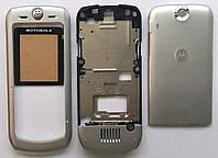 Корпус для телефона Motorola L6, High Copy, full, серебро