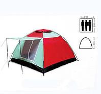 Палатка 3-х местная с тамбуром однослойная