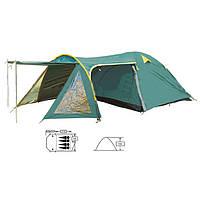 Палатка 4-х местная двухслойная тамбур+тент