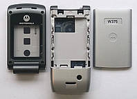 Корпус для телефона Motorola W375 High Copy, full, серебро