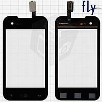Touchscreen (сенсорный экран) для Fly IQ237 Dynamic, черный, оригинал