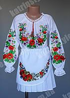 Нарядная вышитая юбка для девочек