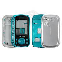 Корпус для Samsung Galaxy B3310 - оригинальный (голубой)