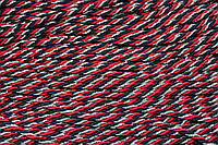 Канат декоративный 4мм (100м) красный+синий+серебро , фото 1