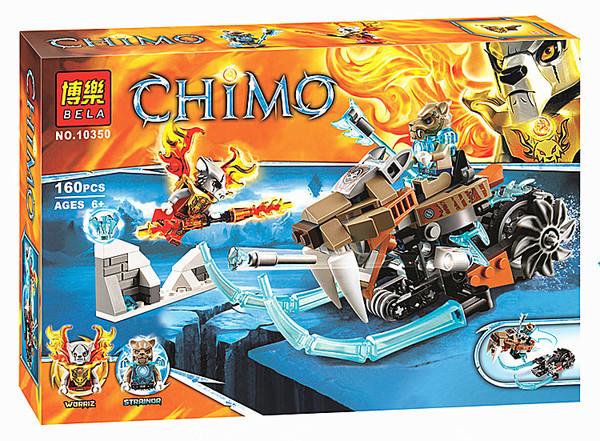 """Конструктор Bela Chima 10350 (реплика Lego Chima) """"Саблецикл Стрейнора"""", 160 дет"""