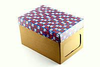 """Самосборная картонная коробка """"Цветок"""""""