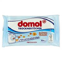 "Domol Trocknertücher ""Blütentraum"" - Ароматизированные салфетки для сушки белья, 25 штук"