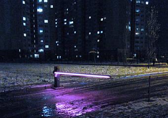 Шлагбаум Nice XBar-4 автоматический с подсветкой стрелы - дюралайт.