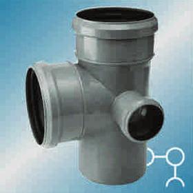 Крестовина канализационная ф110 с отводом ф50