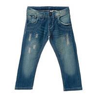 """Низ зима брюки на флисе джинсы с карманом""""сердце"""" со стразами впереди дев. синий 95%хлопок,5%эластан 13521583/"""