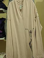 Платья деми туника платье-туника (рисунок слева внизху девушка в камнях) Ж бледно-розовый 95% вискоза, 5% элас