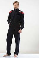 Трикотажный мужской спортивный костюм пр-во Турция FM16226 Dark blue