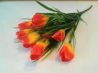 Букет Тюльпанов красно-оранжевый