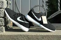 Кроссовки Nike Roche Run\Найк Роше Ран, черные, с белой подошвой, к11000