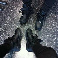 Кроссовки Nike Air Force\Найк Аир Форс, черные, к11011