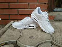 Кроссовки Nike Air Max White\Найк Аир Макс, Белые, к11021