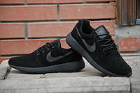 Кроссовки Nike Roche Run\Найк Рош Ран, черные, замша, к11063