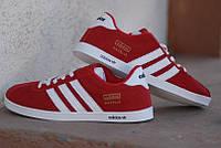 Кроссовки Adidas Gazelle\Адидас Газели, красные, к11098