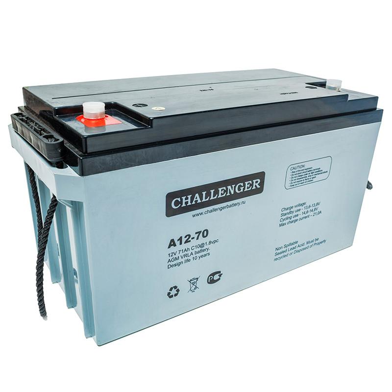 Аккумулятор AGM - 90 Ач, 12В гелевый Challenger A12-90
