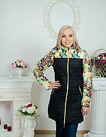 Пальто женское стеганное черное