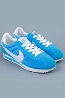 Кроссовки Nike Cortez\Найк Кортез, голубые, к11176