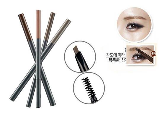 Карандаш для бровей THE FACE SHOP Designing Eyebrow Pencil , фото 2