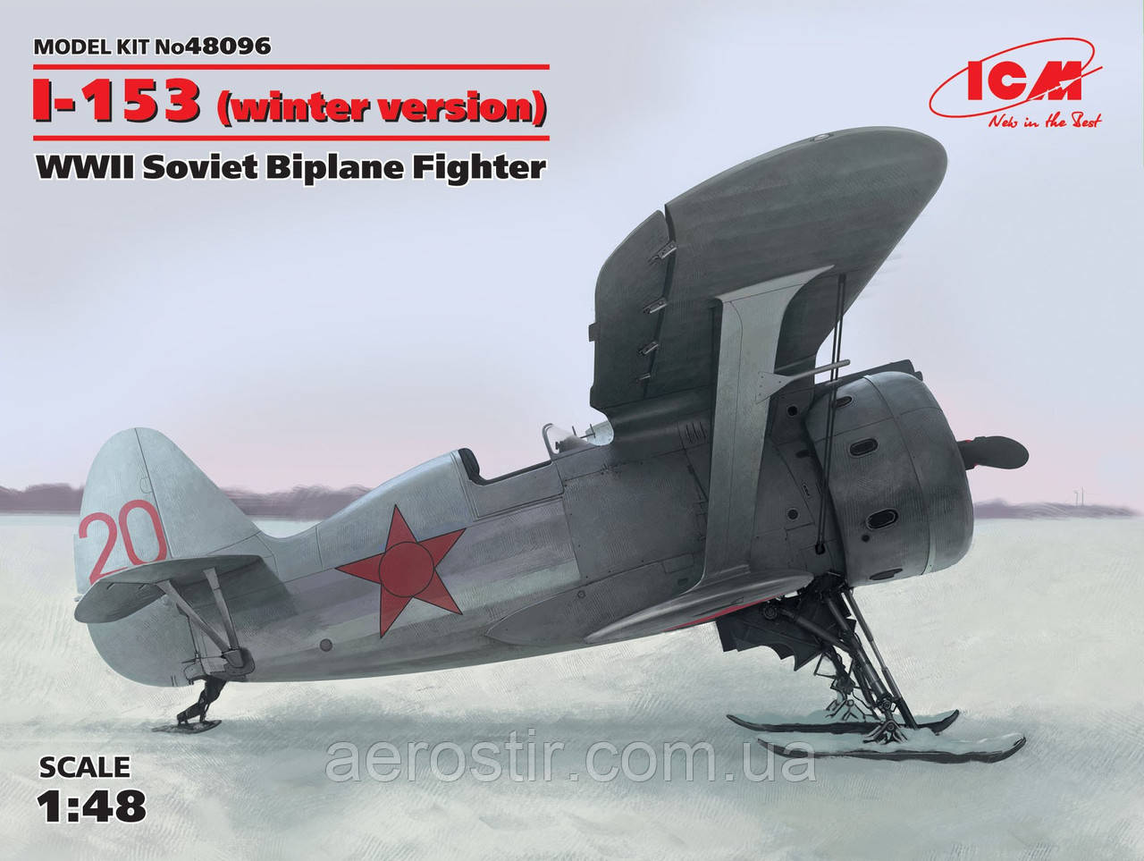 Сборная модель самолета ' И-153 '    1\48     ICM