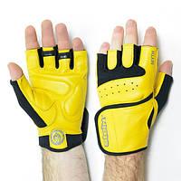 Яркие перчатки для зала Stein Myth лето ЖЕЛТЫЕ