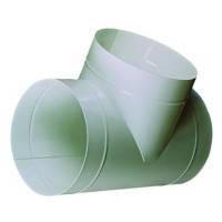 Тройник круглый, полимерное покрытие, металлический D 120 мм, 215 мм (12ТМ)