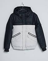 Парка\куртка Pull and Bear - Two-Tone Darknavy/Natural Jacket  (мужская/чоловіча) Зима