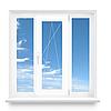 Окно трехстворчатое REHAU металлопластиковое 1800х1400 Euro-Design 60 фурнитура MACO