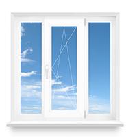 Окно трехстворчатое REHAU металлопластиковое 1800х1400 Euro-Design 60 фурнитура MACO, фото 1