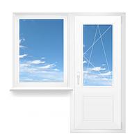 Металлопластиковый балконный блок REHAU Ecosol 60 стеклопакет 4/10/4/10/4, фото 1