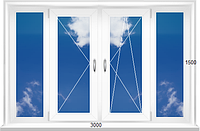 Балконная металлопластиковая рама REHAU Ecosol 60  стеклопакет 4/10/4/10/4