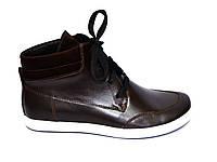 Полуботинки женские кожаные коричневые на шнуровке