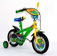 Детский Велосипед Черепашки Ниндзя 2-х колесный, 12 дюймов, Toys7 141203 KK