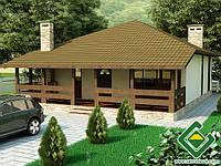 Строительство дома из сип панелей 118,61 м.кв., «ЛУЦИОН»
