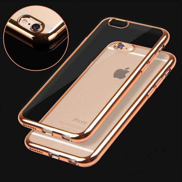 Чехол для iPhone 6 6S силиконовый с цветным ободком