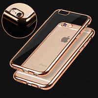 Чехол для iPhone 6 6S силиконовый с цветным ободком, фото 1