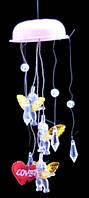 Музыка ветра ангел, с подсветкой  на батарейках, 80х250х80