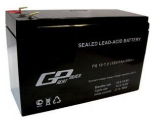 Аккумулятор AGM - 7 Ач, 12В гелевый TopPower (Great Power) PG 12-7