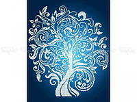 Схема вышивки бисером «Дерево изобилия Серебро» (A3)