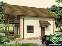 Строительство дома из сип панелей 118,65 м.кв., «ЗАЛОКОТЬ»