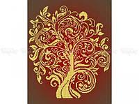 Схема вышивки бисером «Дерево изобилия Золото» (A3)