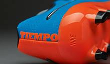 Бутсы Nike Tiempo Genio Leather FG 631282-418 Синие найк темпо (Оригинал), фото 3