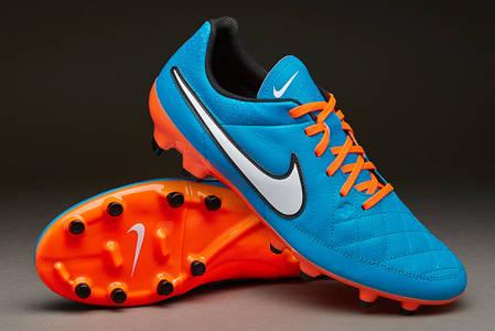 Бутсы Nike Tiempo Genio Leather FG 631282-418 Синие найк темпо (Оригинал), фото 2