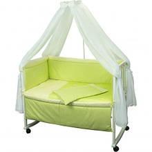 Набор в детскую кроватку Люкс с вышивкой
