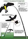 Динамический отпугиватель птиц КРУК+ труба и флагшток, фото 7