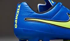 Бутсы Nike Tiempo Genio Leather FG 631282-470 Синие найк темпо (Оригинал), фото 2