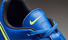 Бутсы Nike Tiempo Genio Leather FG 631282-470 Синие найк темпо (Оригинал), фото 3
